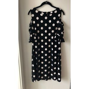 Tommy Hilfiger Cold Shoulder Polkadot Dress